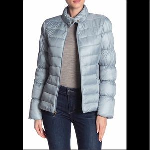 NWT Via Spiga Stand collar quilted Jacket blue S